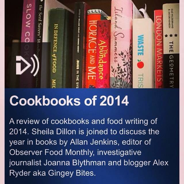 Cookbooks of 2014, BBC Radio 4 Food Programme