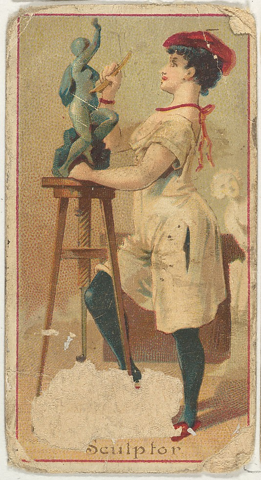 "Sculptor. Vintage tobacco card ""Occupations For Women"", via ellomennopee"