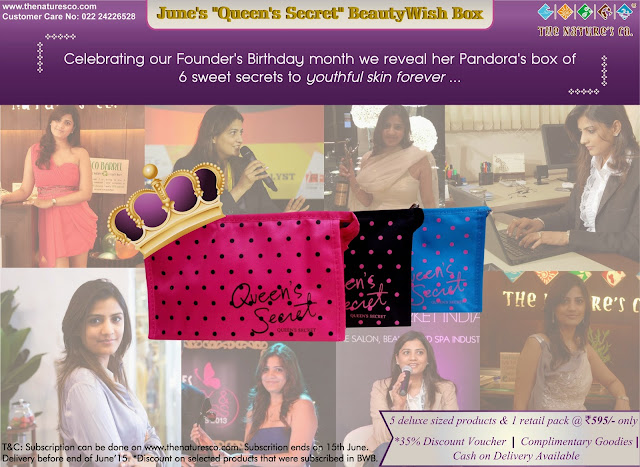 "The Nature's Co. spills out the beans to the secret to youthful skin!      Revealed in their June ""Queen's Secret"" BeautyWish Box"