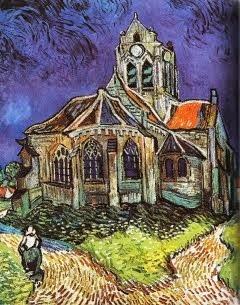 A igreja de Auvers - 1890