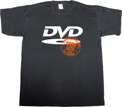 OCTFTC obsolete DVD-R media t-shirt ephemeral-t-shirts