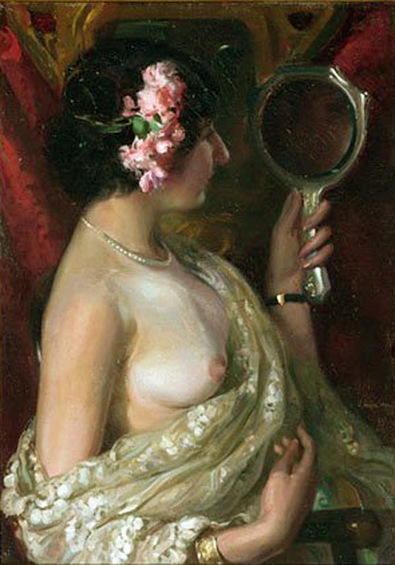 Victor Moya Calvo, Desnudo ante el espejo, Pintor Valenciano, Pintor Español