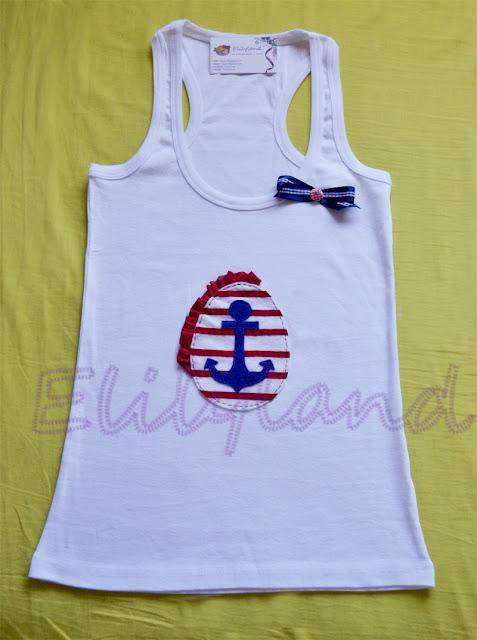 Camiseta Ancla Navy Fieltro a Mano