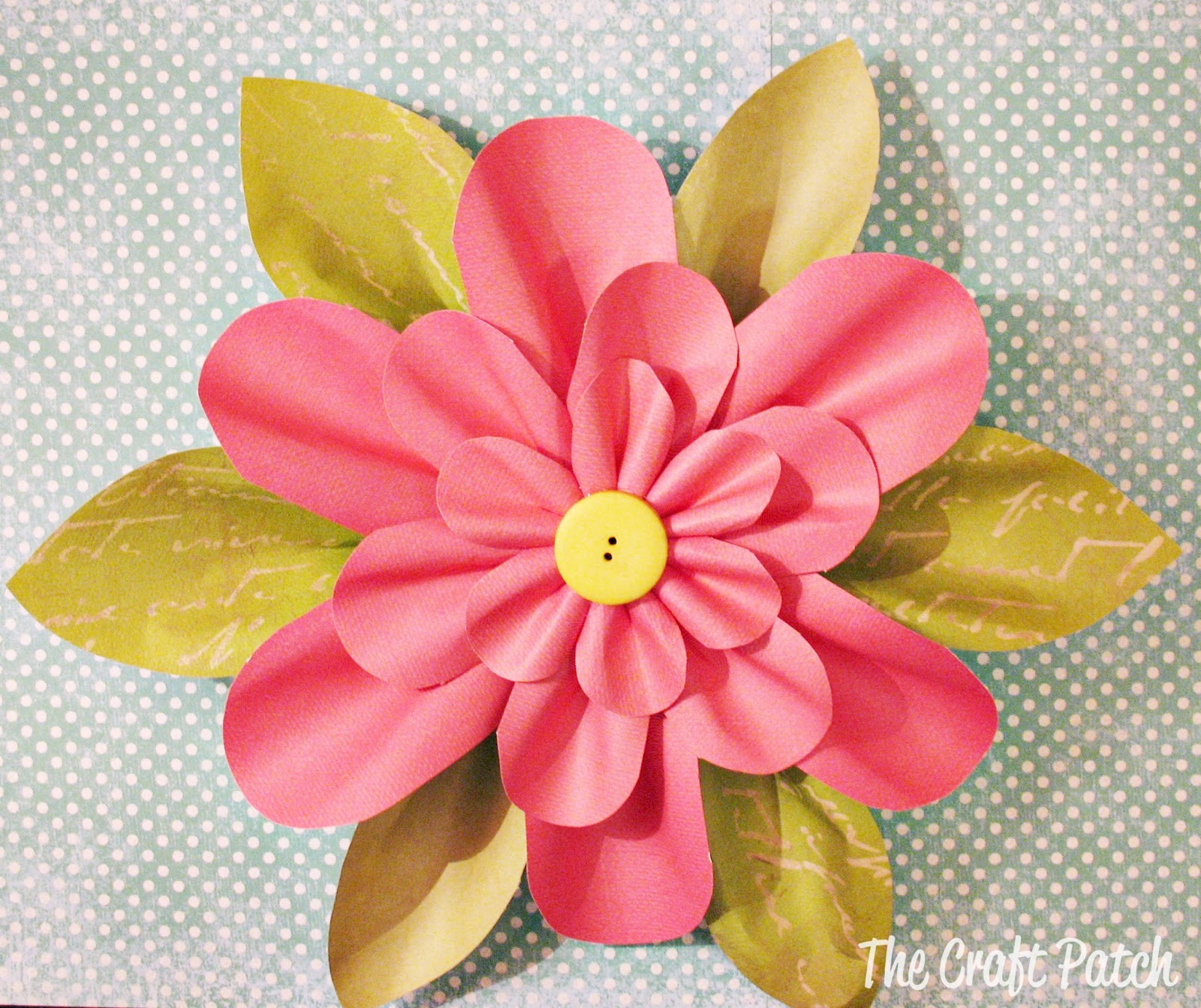 Paper flower tutorial thecraftpatchblog mightylinksfo Images