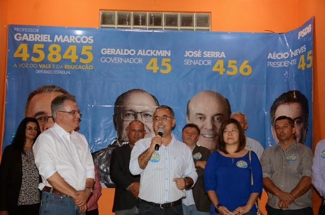 Em Iguape, Samuel Moreira pede votos para eleger Professor Gabriel Marcos