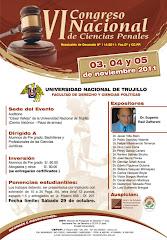 Congreso Nacional de Ciencias Penales 2011 - Trujillo