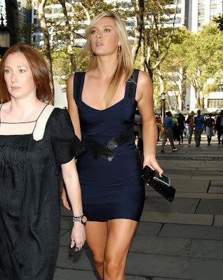 Tennis Player Maria Sharapova in Party Dress