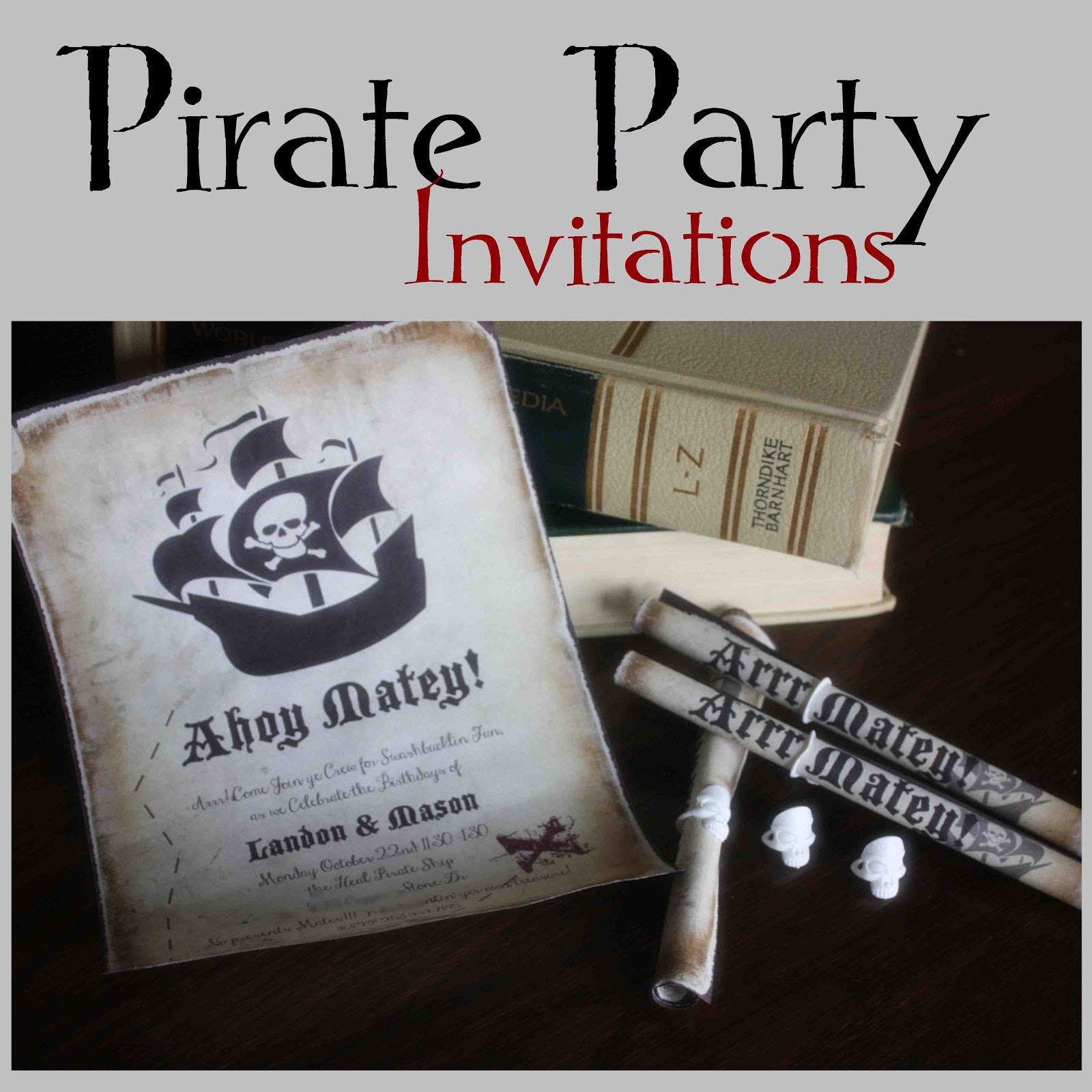 Adult Pirate Party Invitations