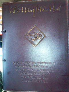 Seg menu do Restaurante Hue. Especialistas em Bun Bo Hue