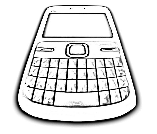 sketch of mobile at an angle