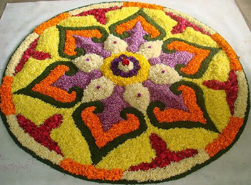 diwali flower rangoli decoration