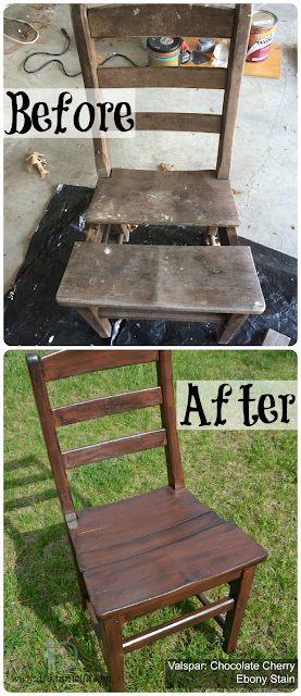 How to update an old wooden chair.