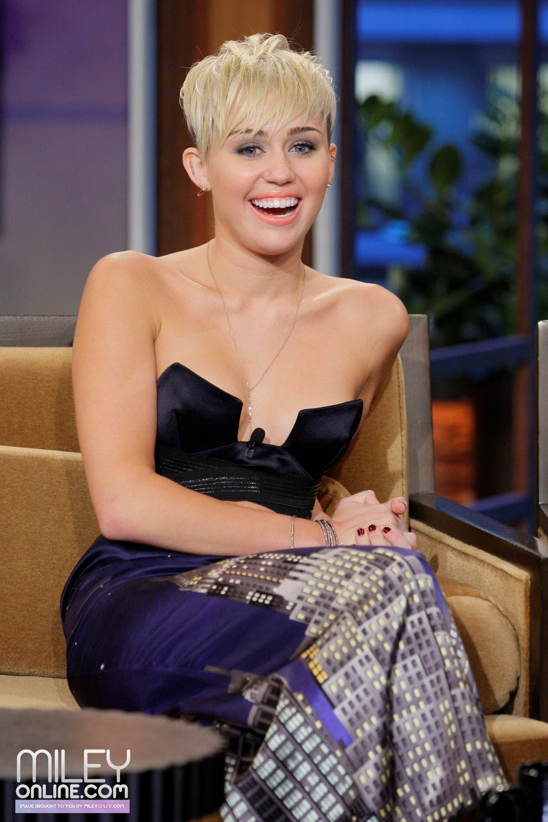 Miley Cyrus Great Photos on The Tonight Show with Jay Leno