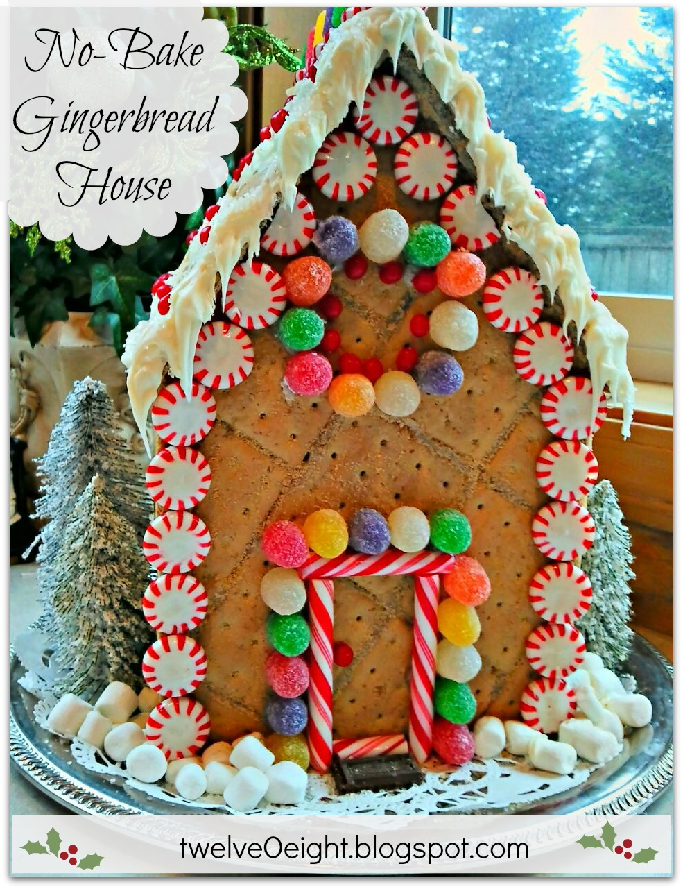 No bake gingerbread house for Gingerbread house themes