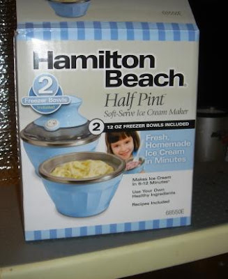 Hamilton Beach Half Pint Ice Cream maker box