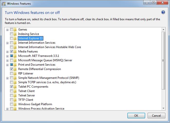 cara uninstall internet explorer di windows 7