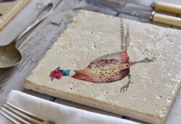 pheasant coaster by katy-may designs