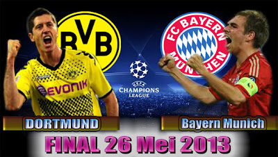 Final Liga Champions 2013: Dortmund vs Bayern Munich