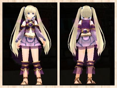水纏の衣 紫1(ペレントボア)+桃2
