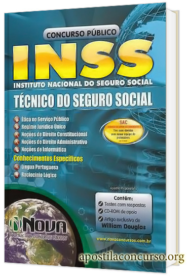 Apostila INSS 2015 Técnico do Seguro Social Impressa