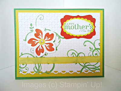 Mothers Day card Build a Blossom with Baroque Motifs background