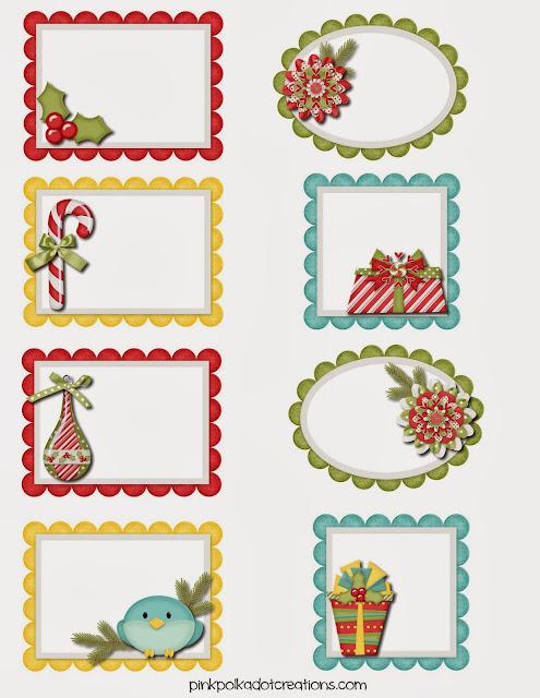 Etiquetas navide as de dise os varios para imprimir - Figuras navidenas para imprimir ...