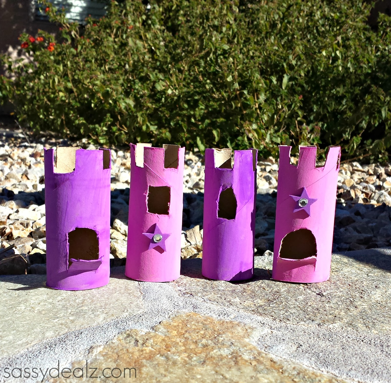 kids craft toilet paper roll castles