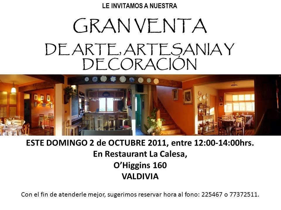 Restaurant la calesa gran venta de arte artesan a y - Artesania y decoracion ...