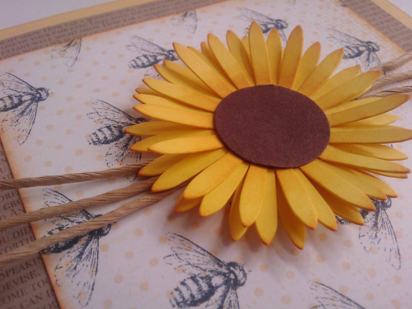 von Hand - von Herzen - von mir: Juli 42 - Einladungskarte Sonnenblume