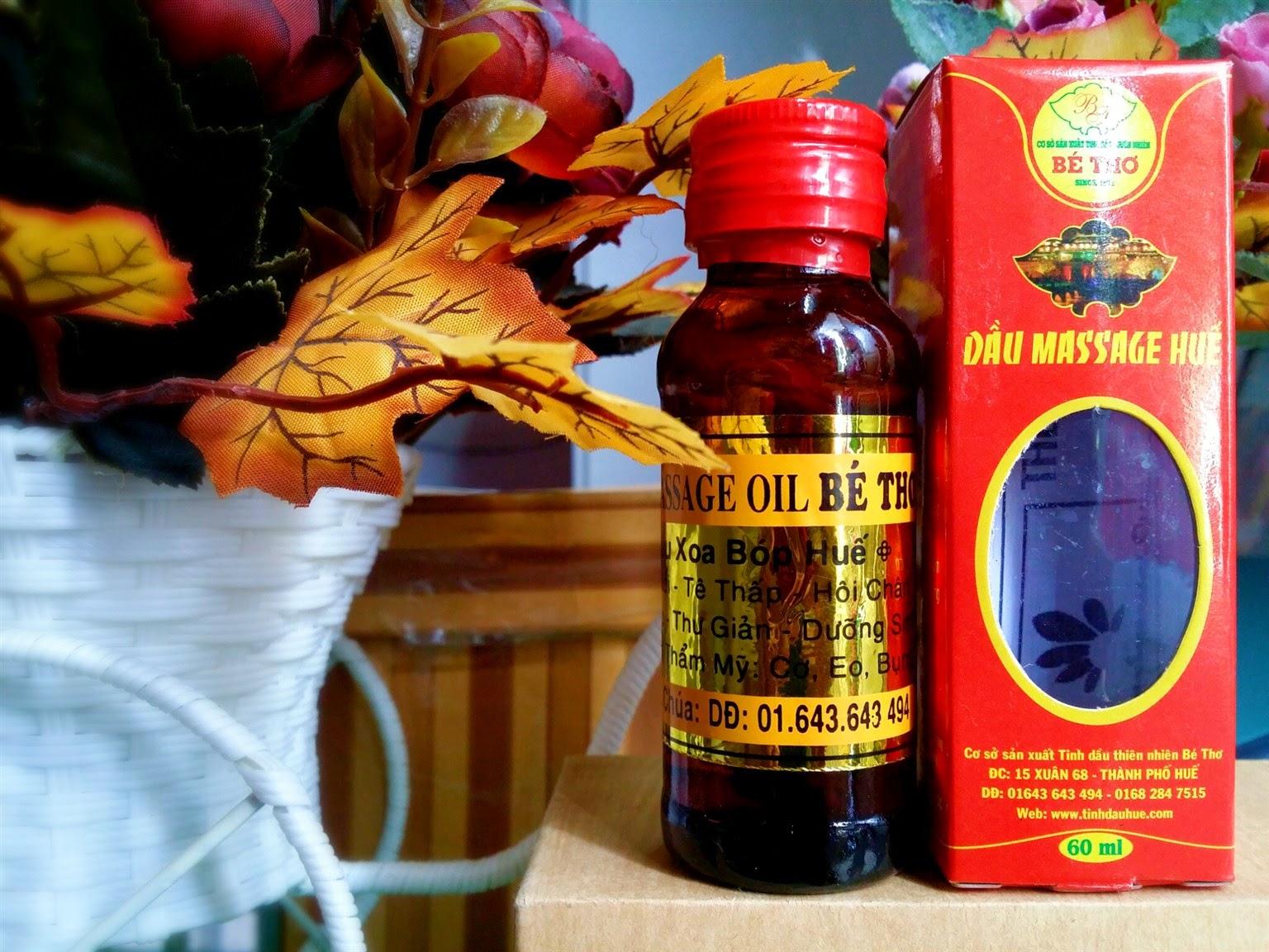 dầu massage huế