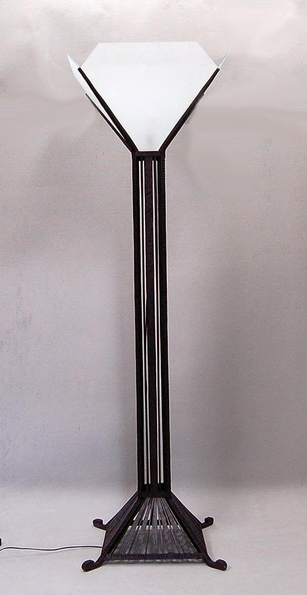 Lampada a stelo Art Deco