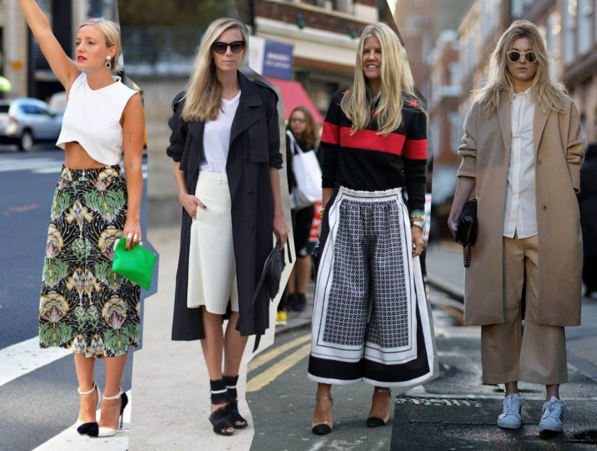 Ways To Wear The Culottes Pants Outfits 2014
