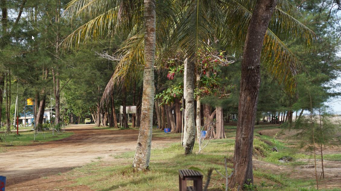Akses jalan yang mudah di tepi pantai