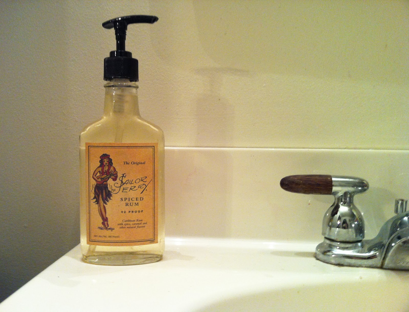 Gift Idea Soap Dispenser From A Liquor Bottle