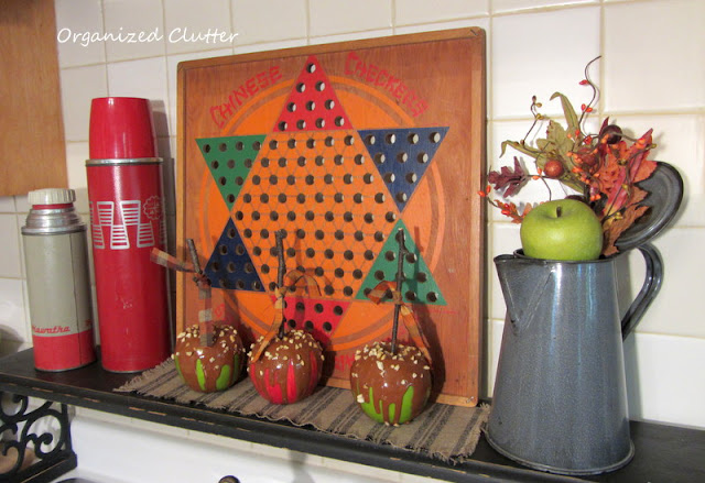 Vintage Items in a Fall Kitchen Vignette