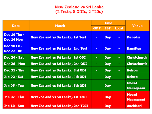Sri Lanka vs New Zealand 2015-2016 Schedule & Time Table,Sri Lanka Vs Pakistan 2016 Schedule,Sri Lanka Vs New Zealand 2016 fixture,Sri Lanka Vs New Zealand 2015-2016 schedule & time table,Sri Lanka Vs New Zealand 2016 Schedule,cricket,series,full schedule,fixture,time table,ODI,test match,match detail,venue,SRI Vs. NZ series 2015-2016,Sri Lanka vs New Zealand 2015-16 Schedule,Sri Lanka tour of New Zealand 2015-2016 Schedule,t20,match timming,IST,GMT,local