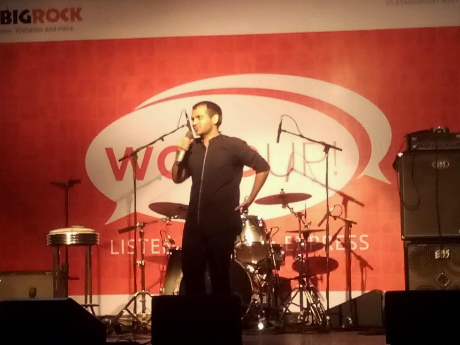 StandUp Comedy, BigRock, IndiBlogger, WordUp