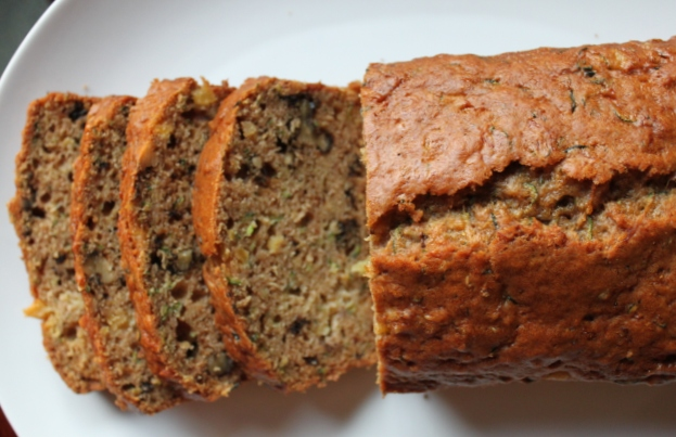 Rhubarb and Venison: Zucchini Bread with Pineapple