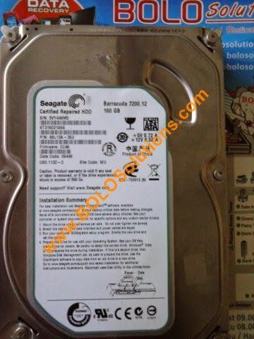 RECOVERY HARDDISK SEAGATE BARRACUDA 7200 160GB 3.5 INCH