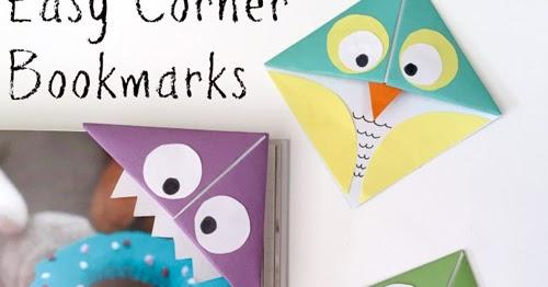My Owl Barn: DIY: Easy Corner Bookmarks