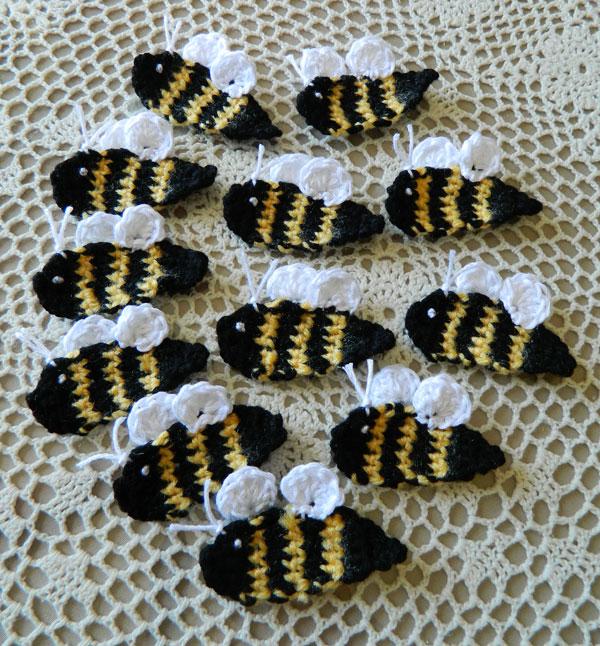 Crochet D Lane Free Bumble Bee Appliqu Pattern