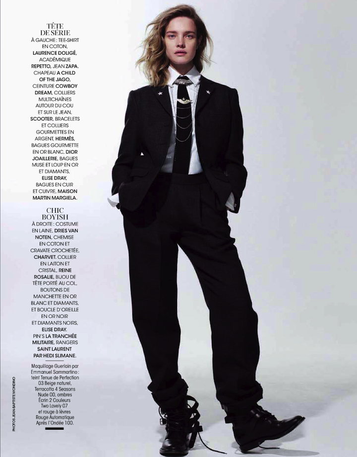 Natalia Vodianova By Jean-Baptiste Mondino For Madame Figaro 22nd November 2013