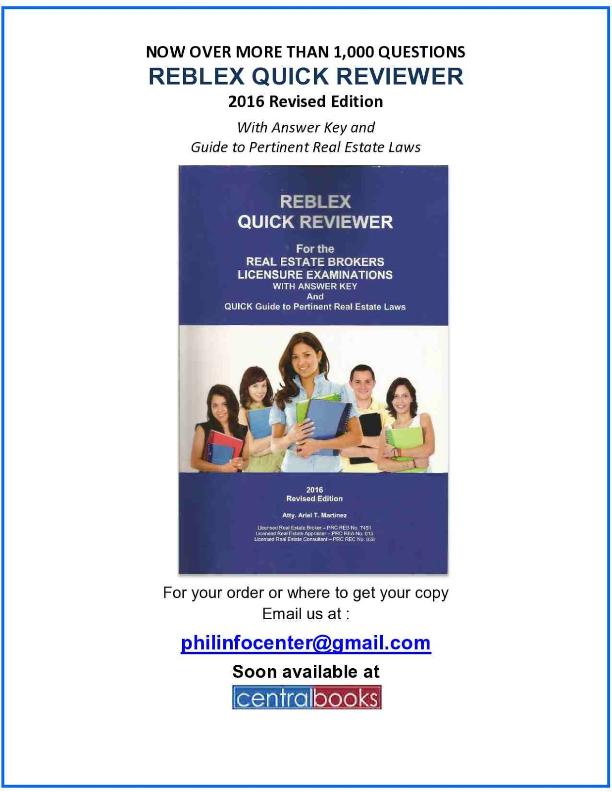 Be Ahead for the 2016 Real Estate Brokers Licensure Examinations