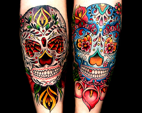 Tattoo Caveira Mexicana Colorida