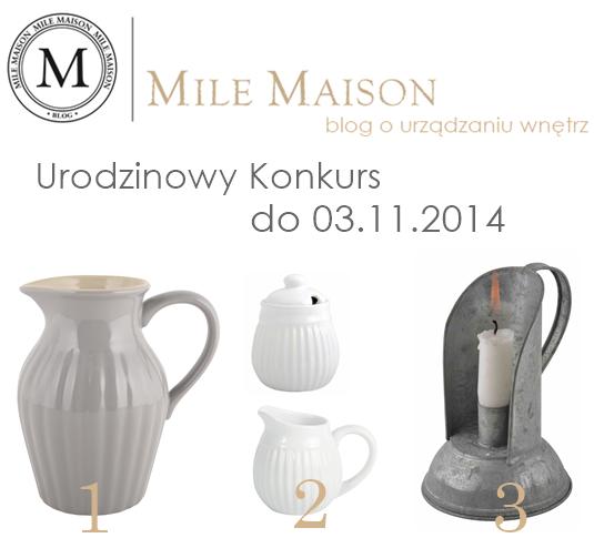 Urodzinowy konkurs  Mile Maison