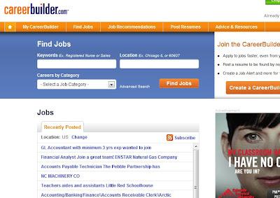 CareerBuilder homepage