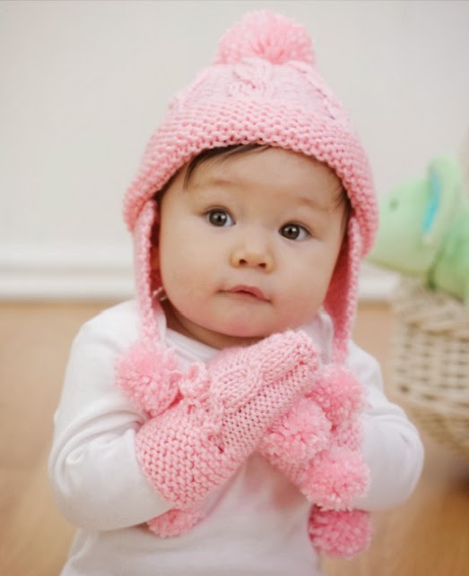 Knitting Pattern For Baby Hat And Mittens : Baby Set c v e t u l k a knits