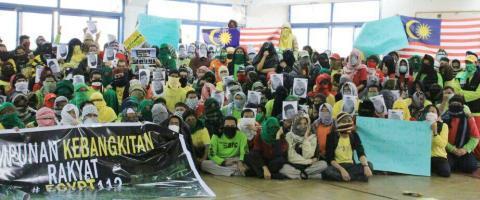 Himpunan Kebangkitan Rakyat : Rakyat Malaysia di Kaherah berhimpun walau diugut kedutaan