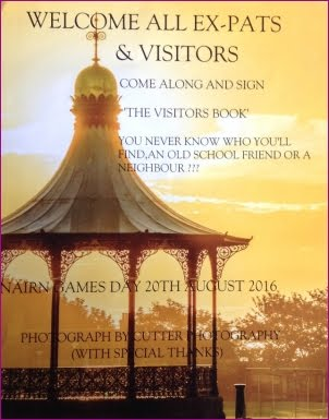 Expats visitors book on Games Day