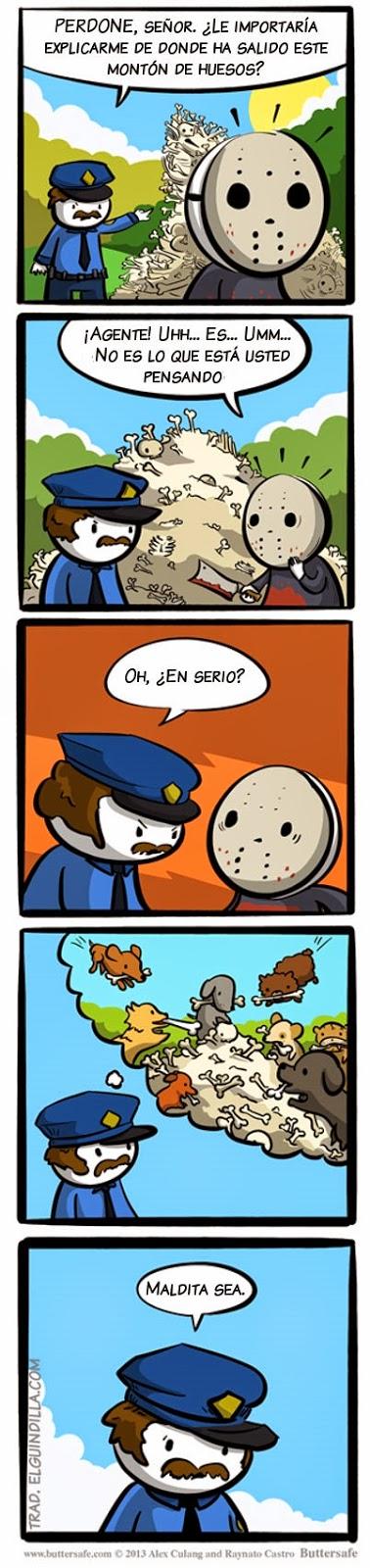humor absurdo - ¿De donde ha salido este montón de huesos?